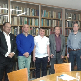 Setkání zástupců KREG s delegací zástupců Ekonomické univerzity z Karagandy (Kazachstánu) a diskuse ohledně možné spolupráce v projektech VaV